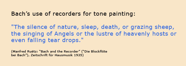 Bach's use of recorders for tonepainting