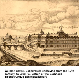 Weimar from the 17th century: Copperplate engraving