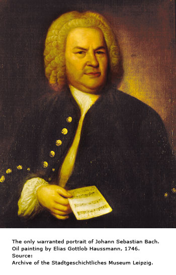 The only warranted portrait of Johann Sebastian Bach (1746)